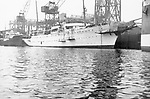 Savarona, steam yacht built Hamburg, Germany 1931 shown at the yards of Blohm &amp; Voos, Germany.<br />