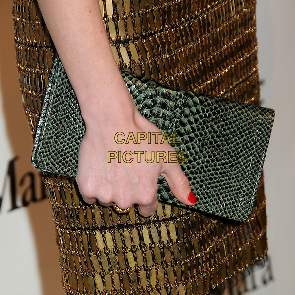 JAYMA MAYS's clutch bag.3rd Annual Women In Film Pre-Oscar Party held at a Private Residence in Beverly Hills, California, USA, .4th March 2010..detail green snake snakeskin animal hand .CAP/ADM/BP.©Byron Purvis/AdMedia/Capital Pictures.