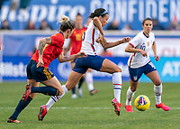 HARRISON, NJ - MARCH 08: Lynn Williams #13 of the United States fights during a game between Spain and USWNT at Red Bull Arena on March 08, 2020 in Harrison, New Jersey.