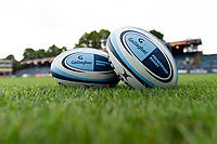 A general view of Gallagher Premiership branded balls. Gallagher Premiership match, between Bath Rugby and Gloucester Rugby on September 8, 2018 at the Recreation Ground in Bath, England. Photo by: Patrick Khachfe / Onside Images