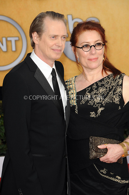 WWW.ACEPIXS.COM . . . . . ....January 30 2011, Los Angeles....Actor Steve Buscemi and wife Jo Andres arriving at the 17th Annual Screen Actors Guild Awards held at The Shrine Auditorium on January 30, 2011 in Los Angeles, CA....Please byline: PETER WEST - ACEPIXS.COM....Ace Pictures, Inc:  ..(212) 243-8787 or (646) 679 0430..e-mail: picturedesk@acepixs.com..web: http://www.acepixs.com