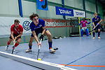 Mannheim, Germany, December 08: During the Bundesliga indoor men hockey match between Mannheimer HC and TSV Mannheim on December 8, 2019 at Irma-Roechling-Halle in Mannheim, Germany. Final score 3-6. (Copyright Dirk Markgraf / 265-images.com) *** Luis Holste #9 of Mannheimer HC
