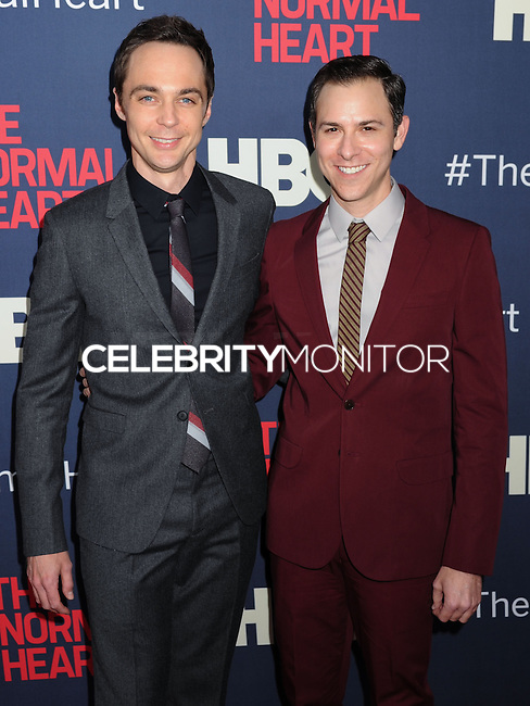 "NEW YORK CITY, NY, USA - MAY 12: Jim Parsons, Todd Spiewak at the New York Screening Of HBO's ""The Normal Heart"" held at the Ziegfeld Theater on May 12, 2014 in New York City, New York, United States. (Photo by Celebrity Monitor)"