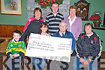 Joe Doyle, Mastergeeha Football club, pictured as he presented Joan Cronin, Kilcummin, with a cheque for EUR8,850, after she won the club lotto recently. Also pictured are Liam O'Sullivan, Kathleen O'Leary, Noreen Nagle, John Cronin and Marion Collins.