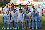 06 June 2015: Minnesota's starters. Front row (left to right): J.C. Banks, Juliano Vicentini (BRA), Daniel Mendes (BRA), Kevin Venegas, Justin Davis. Back row (left to right): Cristiano Dias (BRA), Sammy N'Djock (CMR), Tiago Calvano (BRA), Ibson (BRA), Pablo Campos (BRA), Aaron Pitchkolan. The Carolina RailHawks hosted Minnesota United FC at WakeMed Stadium in Cary, North Carolina in a North American Soccer League 2015 Spring Season match. The game ended in a 1-1 tie.