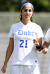11 September 2011: Duke's Gilda Doria. The Duke University Blue Devils defeated the University of North Carolina at Greensboro Spartans 2-0 at Koskinen Stadium in Durham, North Carolina in an NCAA Division I Women's Soccer game.