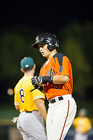 AZL Giants second baseman Nico Giarratano (9) in action against the AZL Athletics on August 5, 2017 at Scottsdale Stadium in Scottsdale, Arizona. AZL Athletics defeated the AZL Giants 2-1. (Zachary Lucy/Four Seam Images)