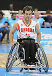 November 18 2011 - Guadalajara, Mexico:   Chad Jassman during the Bronze Medal Game against Team Mexico in the CODE Alcalde Sports Complex at the 2011 Parapan American Games in Guadalajara, Mexico.  Photos: Matthew Murnaghan/Canadian Paralympic Committee