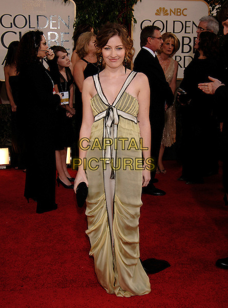 KELLY MacDONALD.HFPA 63rd Golden Globe Awards at The Beverly Hills Hilton, Beverly Hills, California, USA..January 17th, 2006.Ref: PL.globes full length black clutch purse green dress www.capitalpictures.com.sales@capitalpictures.com.©Phil Loftus/Capital Pictures