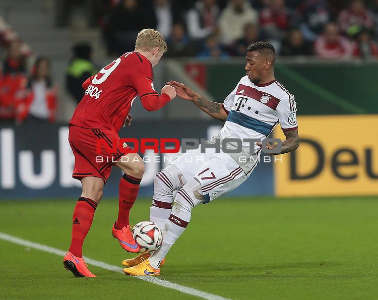 08.04.2015, BayArena, Leverkusen, DFB Pokal, Bayer 04 Leverkusen vs. Bayern M&uuml;nchen<br /> #lev19, J&eacute;r&ocirc;me Boateng (M&uuml;nchen)<br /> Foto &copy; nordphoto /  Bratic