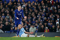 Andreas Christensen of Chelsea reacts after conceding a free-kick during Chelsea vs Malmo FF, UEFA Europa League Football at Stamford Bridge on 21st February 2019