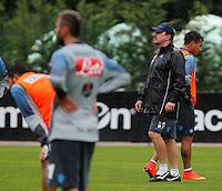 Rafael Benitez <br /> ritiro precampionato Napoli Calcio a  Dimaro 26 Luglio 2014<br /> <br /> Preseason summer training of Italy soccer team  SSC Napoli  in Dimaro Italy July 26, 2014