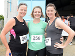 Jane Hoban, Sinead Jordan and Kathy Smith who ran the Newtown Blues 12.5K run. Photo:Colin Bell/pressphotos.ie