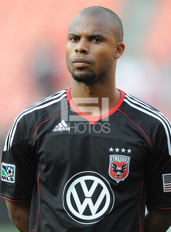 DC United defender Julius James (2)   DC United defeated Real Salt Lake 2-1 to advance to the round of 16 of the  U.S. Open Cup at RFK Stadium, Wednesday  June 2  2010.