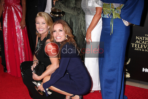 LOS ANGELES - JUN 22:  Melody Thomas Scott, Tracey Bregman at the 2014 Daytime Emmy Awards Press Room at the Beverly Hilton Hotel on June 22, 2014 in Beverly Hills, CA