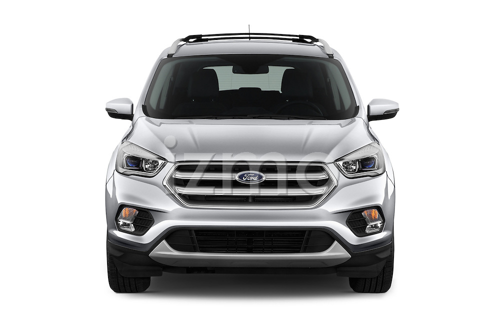 Car photography straight front view of a 2018 Ford Escape Titanium 5 Door Suv Front View