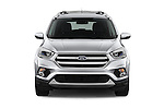 Car photography straight front view of a 2017 Ford Escape Titanium 5 Door Suv Front View