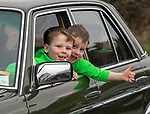 170318<br /> Conor and Dylan Keogh (6) from Newmarket during St Patricks Day parade in Shannon.Pic Arthur Ellis.