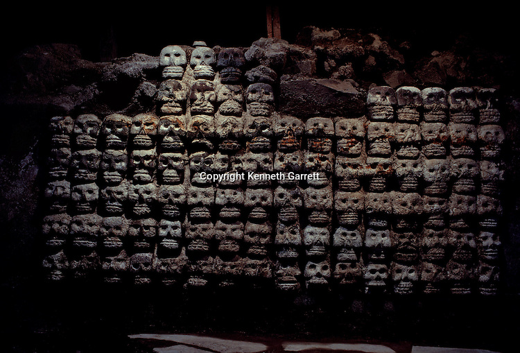 Skull rack or Tzompantli, Aztec, Mexico, Templo Mayor.