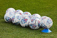 Pictured: Mitre balls during the Swansea City FC training session at the Fairwood training ground in Swansea, Wales, UK Saturday 29 June 2019Saturday 29 June 2019<br /> Re: Swansea City FC training, Fairwood, near Swansea, Wales, UK