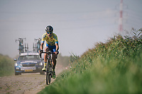 race leader Rob Ruijgh (NED/Tarteletto-Isorex) lost a big part of his lead after sustaining a flat<br /> <br /> Antwerp Port Epic 2018 (formerly &quot;Schaal Sels&quot;)<br /> One Day Race:  Antwerp &gt; Antwerp (207 km; of which 32km are cobbles &amp; 30km is gravel/off-road!)