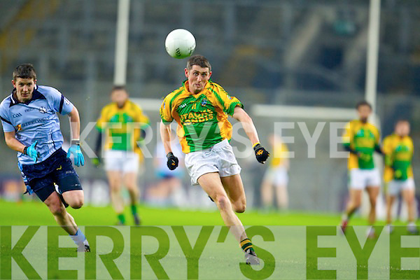 John Griffin Finuge in action against Barry Hughes Cookstown Fr Rocks Tyrone in the All Ireland Intermediate Final at Croke Park on Saturday.