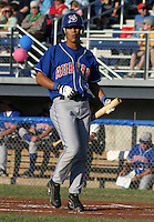 July 19, 2003:  Shortstop Juan Peralta (3) of the Auburn Doubledays, Class-A affiliate of the Toronto Blue Jays, during a game at Dwyer Stadium in Batavia, NY.  Photo by:  Mike Janes/Four Seam Images