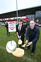 HANDOUT PHOTO/FREE TO USE: Gathering for the Photo launch / Sponsor announcement of new invitational Ulster hurling competition where <br />