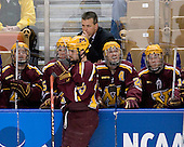 Jay Barriball (Minnesota - 26), Drew Fisher (Minnesota - 25), Ben Gordon (Minnesota - 13), Don Lucia (Minnesota - Head Coach), Mike Howe (Minnesota - 24), Justin Bostrom (Minnesota - 14) - The Boston College Eagles defeated the University of Minnesota Golden Gophers 5-2 on Saturday, March 29, 2008, in the NCAA Northeast Regional Semi-Final at the DCU Center in Worcester, Massachusetts.