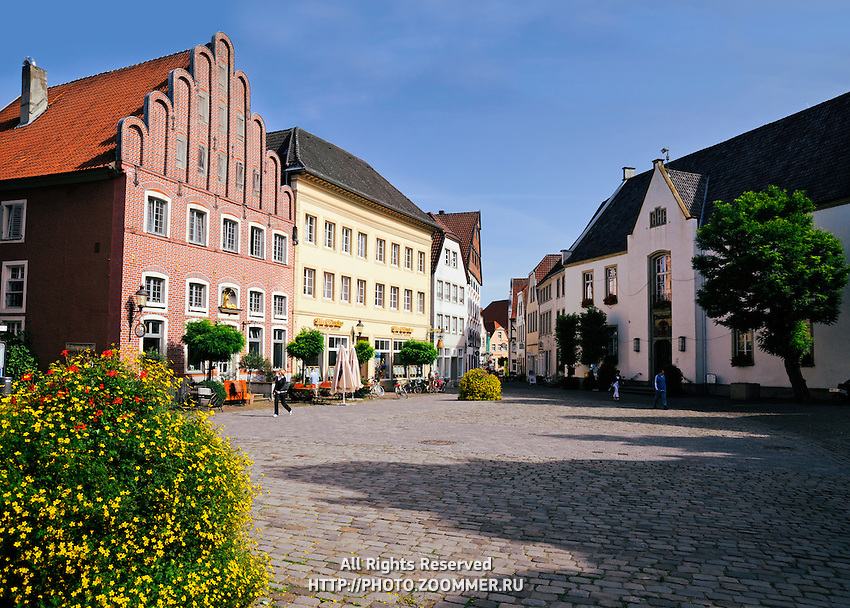 The old market square of Warendorf, Germany
