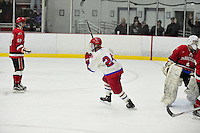 Wednesday, January 18, 2017: Game action between Barnstable and Bridgewater-Raynham high schools held at the Bridgewater Ice Arena in Bridgewater Mass. Bridgewater-Raynham defeats Barnstable 4-2. Eric Canha/BridgewaterSports.com