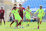 (L to R) <br /> Megumi Takase, <br /> Rumi Utsugi (JPN), <br /> MARCH 6, 2015 - Football / Soccer : <br /> Algarve Women's Football Cup 2015 Group C match <br /> between Japan 3-0 Portugal <br /> at Algarve Stadium in Faro, Portugal. <br /> (Photo by YUTAKA/AFLO SPORT)[1040]