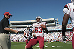 13 October 2007: South Carolina's Cliff Matthews (83). The University of South Carolina Gamecocks defeated the University of North Carolina Tar Heels 21-15 at Kenan Stadium in Chapel Hill, North Carolina in an NCAA College Football Division I game.
