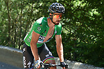 Green Jersey Peter Sagan (SVK) Bora-Hansgrohe from the breakaway group in action during Stage 11 of the 2018 Tour de France running 108.5km from Albertville to La Rosiere Espace San Bernardo, France. 18th July 2018. <br /> Picture: ASO/Pauline Ballet   Cyclefile<br /> All photos usage must carry mandatory copyright credit (&copy; Cyclefile   ASO/Pauline Ballet)