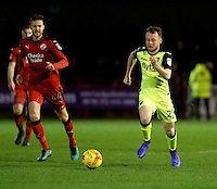 Exeter City's Jake Taylor runs with the ball during the Sky Bet League 2 match between Crawley Town and Exeter City at Broadfield Stadium, Crawley, England on 28 February 2017. Photo by Carlton Myrie / PRiME Media Images.