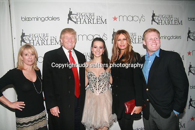Ramona Singer, Donald Trump, Sara Hughes, Melania Trump and Andrew Giuliani attend The 2011 Figure Skating in Harlem - Skating with the Stars Honoring Tina and Terry Lundgren, Sarah Hughes and Lola C. West at the Wollman Rink, NY 4/4/11