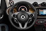 Car pictures of steering wheel view of a 2020 Smart EQ-fortwo Comfort-Plus 2 Door Convertible Steering Wheel
