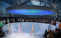 Catwalk<br /> at the Anya Hindmarch catwalk show as part of London Fashion Week SS17, Lindley Hall, London<br /> <br /> <br /> &copy;Ash Knotek  D3155  17/09/2016