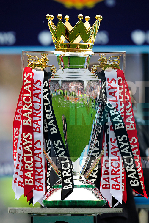 The FA Premier League Trophy during the Premier League match at The JJB Stadium, Wigan. Picture date 11th May 2008. Picture credit should read: Simon Bellis/Sportimage