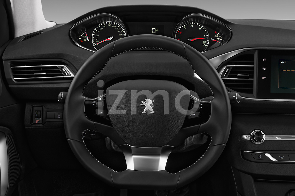 Car pictures of steering wheel view of a 2018 Peugeot 308 SW Allure 5 Door Wagon