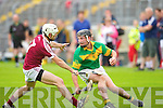 In Action Causeway's Anthony Fealy and Kilmoyleys Colman Savage in the  Senior Hurling Championship round 1 Causeway V Kilmoyley at Austin Stack Park on Saturday