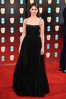 Felicity Jones<br /> at the 2017 BAFTA Film Awards held at The Royal Albert Hall, London.<br /> <br /> <br /> &copy;Ash Knotek  D3225  12/02/2017