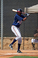 Atlanta Braves Isranel Wilson (12) during an instructional league game against the Houston Astros on October 1, 2015 at the Osceola County Complex in Kissimmee, Florida.  (Mike Janes/Four Seam Images)
