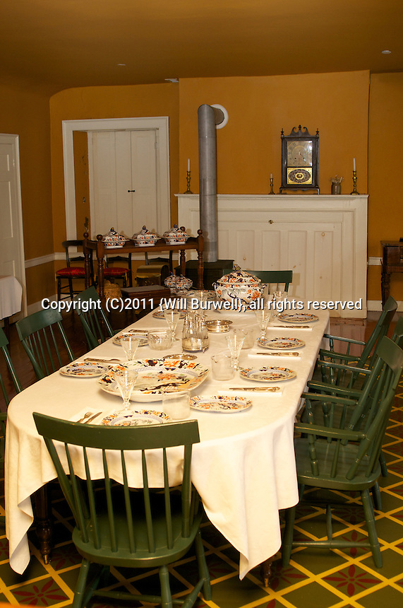 Officers Mess table setting