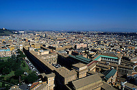 Vatican Museums and cityscape seen from St. Peter's Basilica, Vatican City, Rome, Italy.