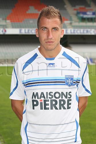 01.08.2013. Auxerre, France. Official Club photoshoot portait for season 2013-14.  (Auxerre) Julien Viale