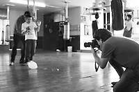 Trip with Adam to mexico city's downtown. Photo session for a calendar. Disabled kids in a box gym.
