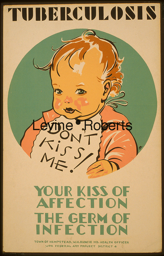 Work Projects Administration (WPA) poster for tuberculosis produced between 1936 and 1943. (Library of Congress)