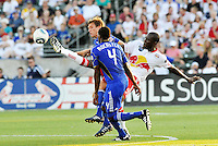 Salou Ibrahim (white), Craig Rocastle, Jimmy Conrad...Kansas City Wizards were defeated 3-0 by New York Red Bulls at Community America Ballpark, Kansas City, Kansas.