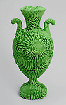 Tall Green Bloom Urn, 2012; Designed by Michael Eden (English, b. 1955); England; 3d-printed nylon; H x W: 41 x 18 cm (16 1/8 x 7 1/16 in.); Museum purchase through gift of Elizabeth and Lee Ainslie and from General Acquisitions Endowment Fund; 2013-53-1; Cooper Hewitt, Smithsonian Design Museum. <br />